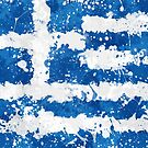 «Bandera de Grecia - Grunge pintura sucia» de Garyck Arntzen