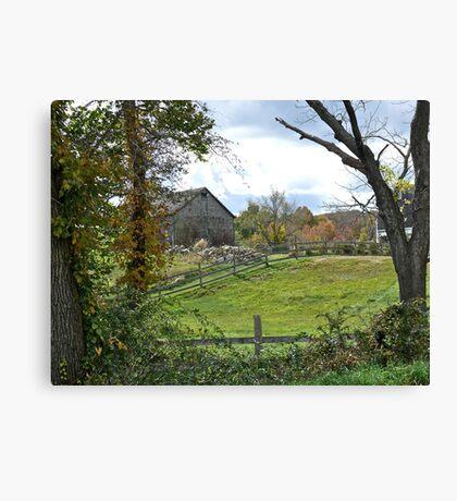 A Typically Rural and Bucolic Rhode Island Farm - Autumn Canvas Print