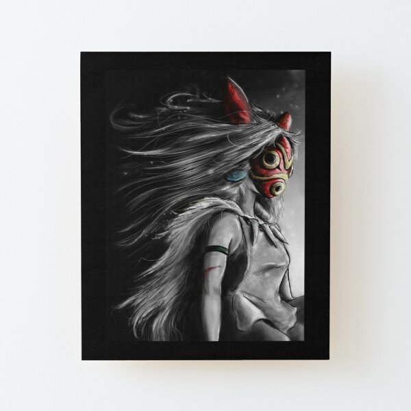 Mononoke Wolf Anime Tra Peinture Numérique Impression montée sur bois