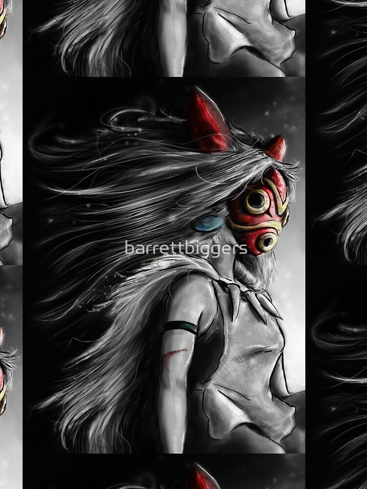 Mononoke Wolf Anime Tra Digital Painting by barrettbiggers