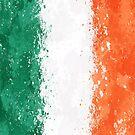 «Bandera irlandesa de pintura de acción - Grunge desordenado» de Garyck Arntzen
