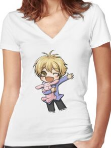 Honey-senpai - Ouran High School Host Club  Women's Fitted V-Neck T-Shirt