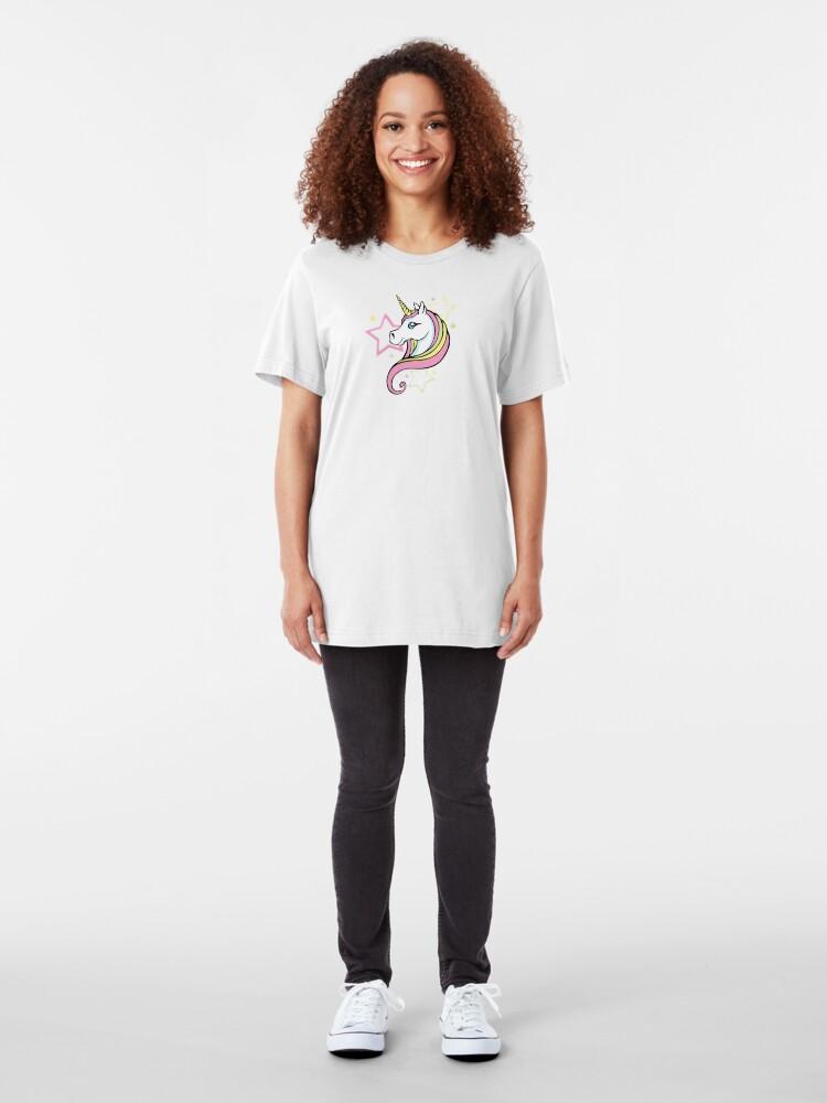 Alternate view of Unicorn and Stars Tee Slim Fit T-Shirt