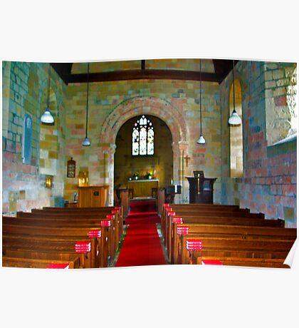 Interior of St John Church Poster