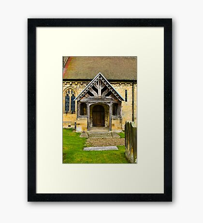 The Entrance Door St John's Church. Framed Print