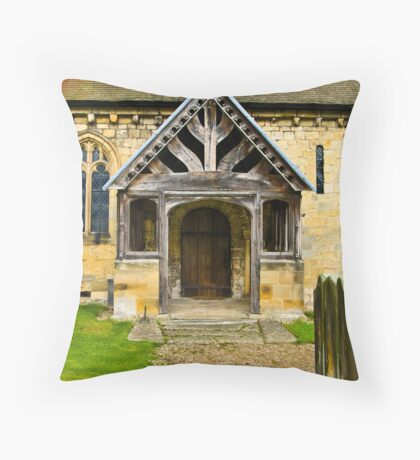 The Entrance Door St John's Church. Throw Pillow