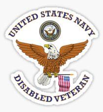 US NAVY DISABLED VETERAN EAGLE SHIELD Sticker