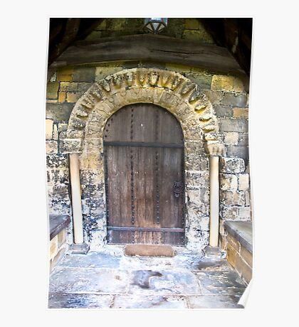 Wooden Church Door Poster