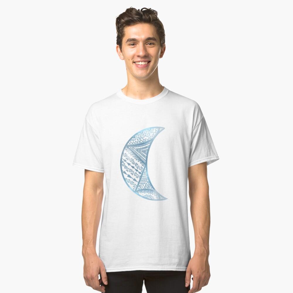 mandala luna azul Camiseta clásica