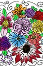«ramo de flores de acuarela» de Jennie Clayton