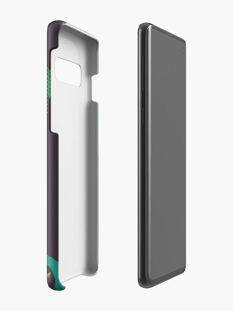 Alternative Ansicht von Landschaft - Fuchs und Bach 2 (Muster) Hülle & Klebefolie für Samsung Galaxy