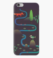 Landscape - Fox and Stream 2 (Pattern) iPhone Case