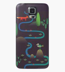 Landscape - Fox and Stream 2 (Pattern) Case/Skin for Samsung Galaxy
