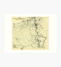 World War II Twelfth Army Group Situation Map October 24 1944 Art Print