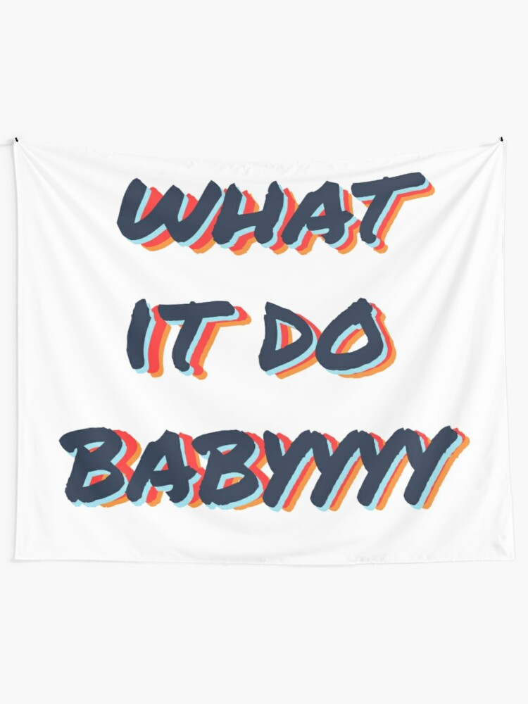 Alternate view of what it do babyyyy navy Tapestry