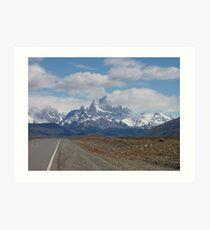 Mountains Rising in El Chalten, Argentina Art Print