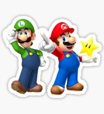 Mario and Luigi Sticker