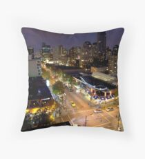 Vancouver - Robson Street Knights Throw Pillow