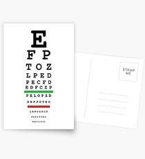 eye test Postkarten