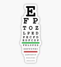 eye test Sticker
