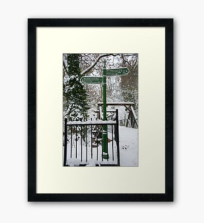 Which Way: Dulwich Woods, London, UK. Framed Print