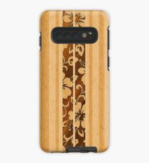 Funda/vinilo para Samsung Galaxy Pupukea Hawaiian Faux Koa Wood Tabla de surf