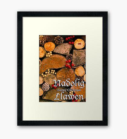Nadolig Llawen - Happy Christmas Framed Print