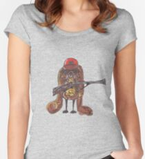 The rabbitish hunter Women's Fitted Scoop T-Shirt