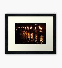 Waterfire Framed Print