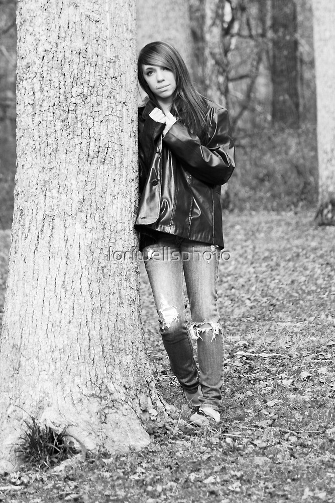 Model Tiffany Black and White Version by loriwellsphoto