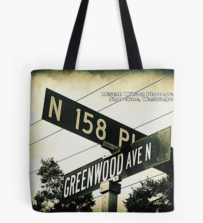 North 158th Place & Greenwood Avenue, Shoreline, WA by MWP Tote Bag