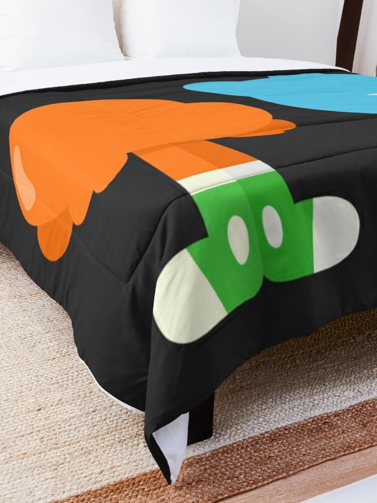 Alternate view of Minimal Gumball and Darwin Comforter