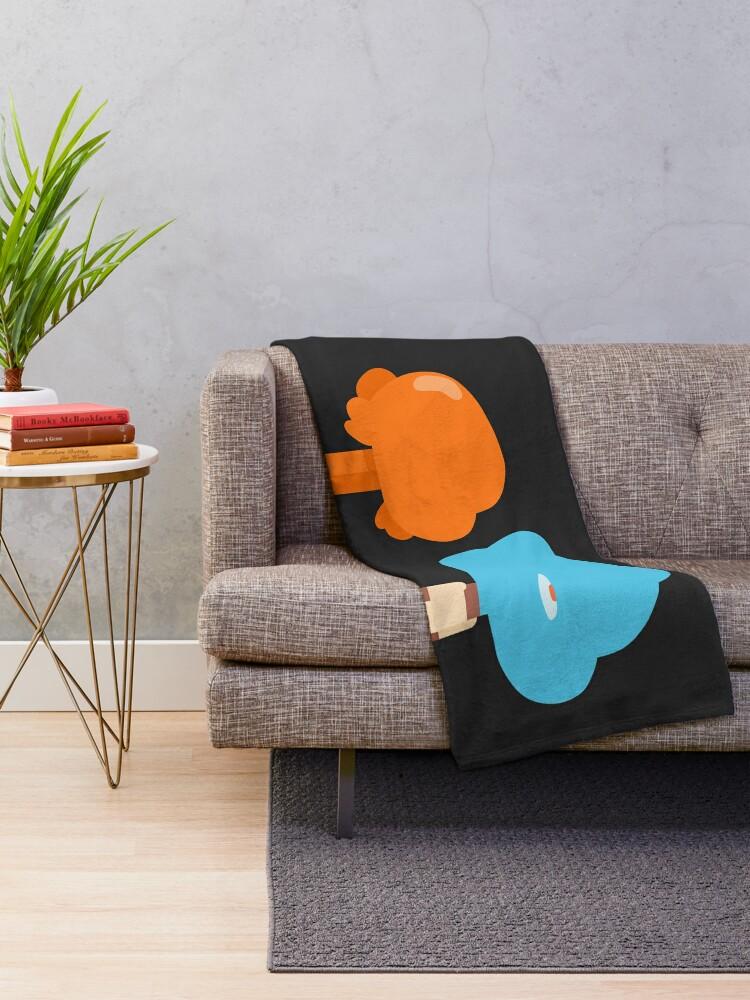 Alternate view of Minimal Gumball and Darwin Throw Blanket