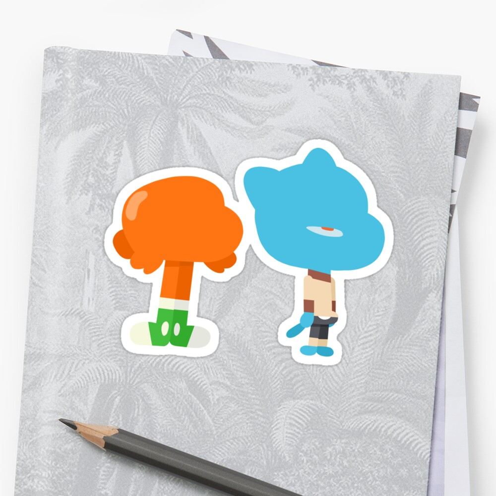 Minimal Gumball and Darwin Sticker