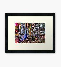 Hosier Lane Framed Print