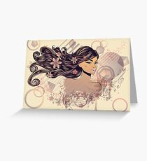 Music Girl 2 Greeting Card