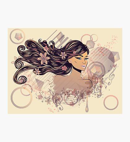Musik Mädchen 2 Fotodruck