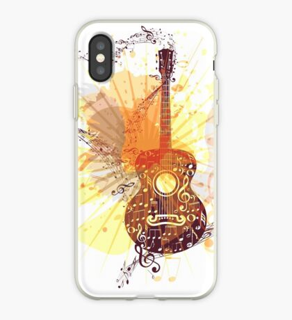 Musik Poster mit Gitarre 5 iPhone-Hülle & Cover