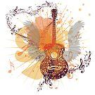 Musik Poster mit Gitarre 5 von AnnArtshock