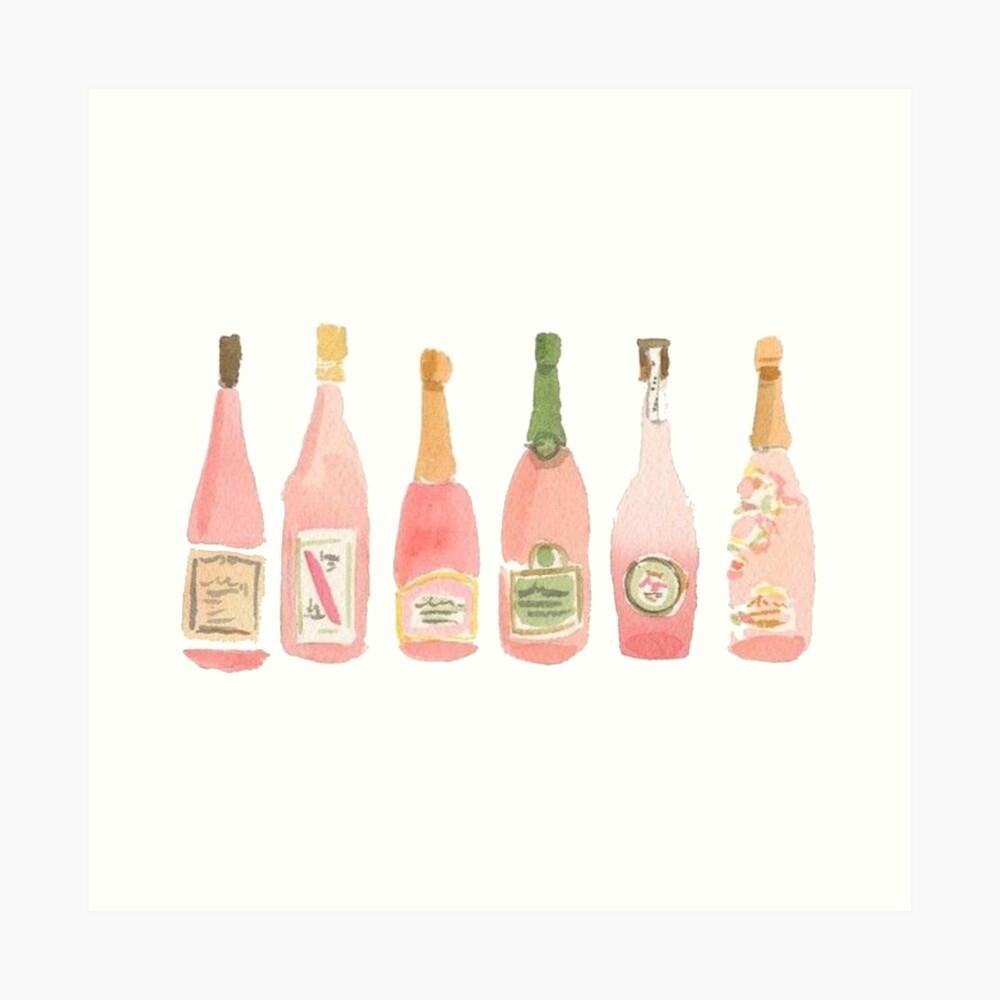 Pink Champagne Art Print