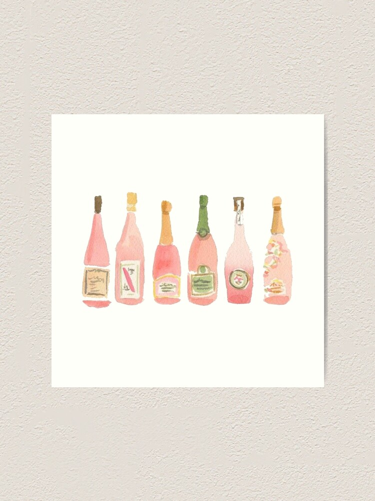 Alternate view of Pink Champagne Art Print