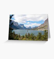 Wild Goose Island, Glacier National Park Greeting Card