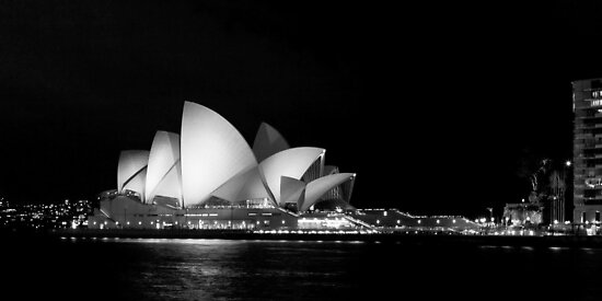 Quot Sydney Opera House In Black And White Quot Posters By Martin