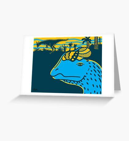 Dilophosaurus Duo Print Greeting Card