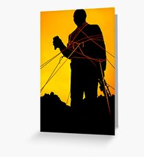 Louis Armstrong Statue Greeting Card