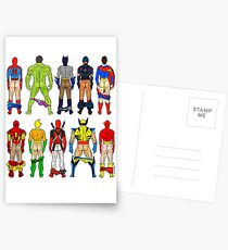 Superhero Butts Postcards