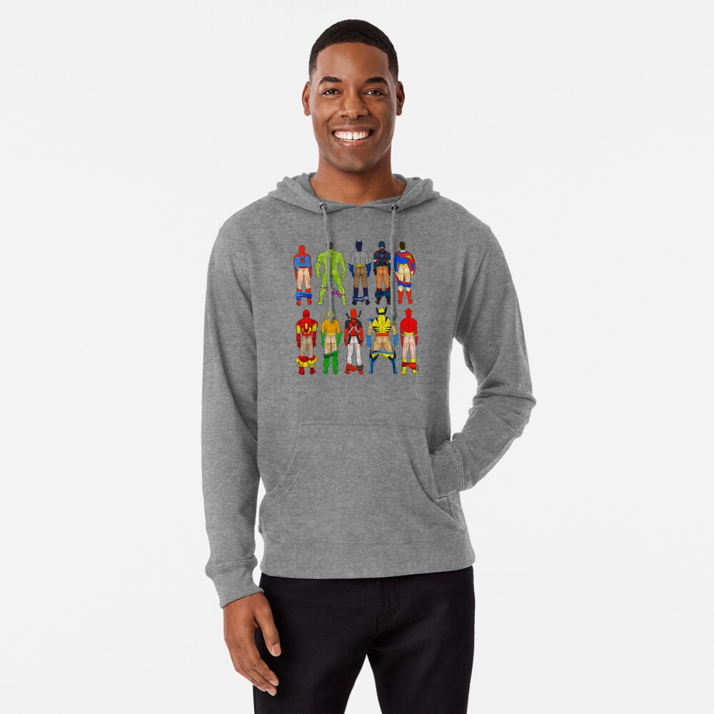 Superhero Butts Lightweight Hoodie