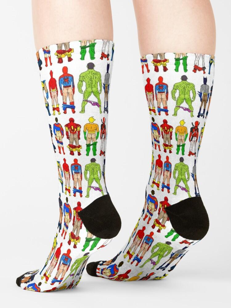 Alternate view of Superhero Butts Socks