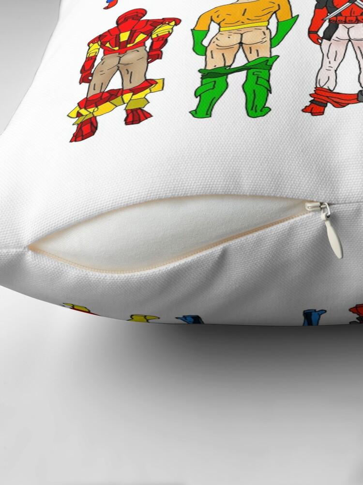 Alternate view of Superhero Butts Throw Pillow