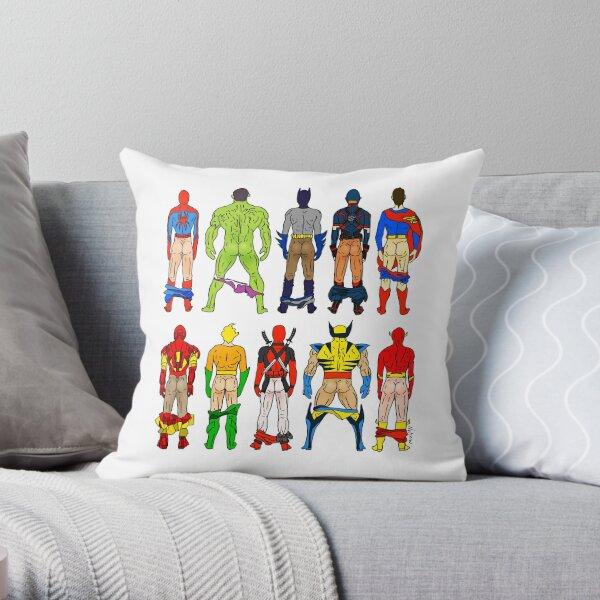 Superhero Butts Throw Pillow